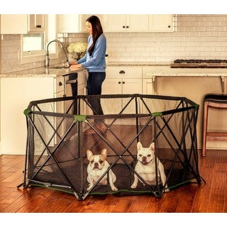 Carlson Pet Products Black/Green Metal/Mesh 8-panel Pet Pen