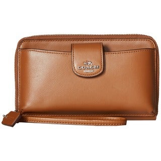 Coach Caramel Leather Smartphone Wallet