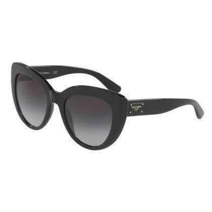 ed9460459503 Shop Dolce&Gabbana Women DG4287F 501/8G Black Cat Eye Sunglasses - Free  Shipping Today - Overstock.com - 13517217