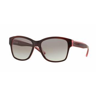 DKNY Women DY4134 369211 Bordeaux Plastic Square Sunglasses
