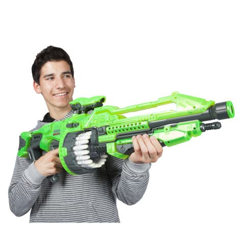 World Tech Toys Warriors Prime Glow in the Dark Motorized Dart Blaster