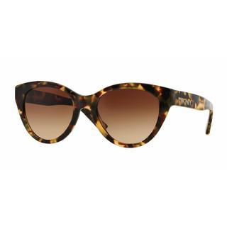 DKNY Women DY4135 368913 Havana Plastic Cat Eye Sunglasses