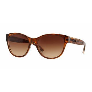 DKNY Women DY4133 368713 Havana Plastic Cat Eye Sunglasses