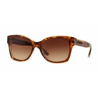 DKNY Women DY4132 368713 Havana Plastic Square Sunglasses