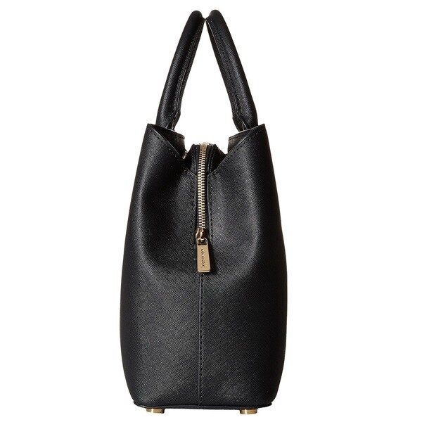 Michael Kors Savannah Large Black Satchel Handbag - Free Shipping ...