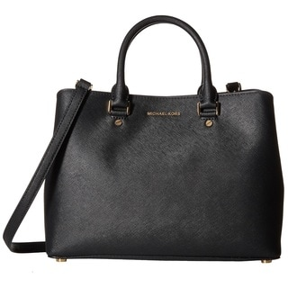 Michael Kors Black Savannah Medium Black Satchel Handbag - Free ...