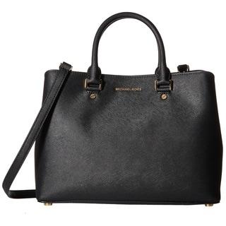 Michael Kors Savannah Large Black Satchel Handbag