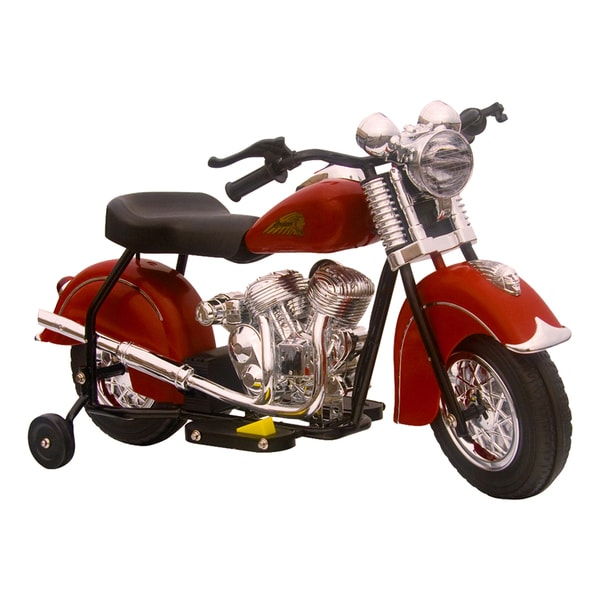 Little Vintage Indian Ride On 6V Red Motorcycle