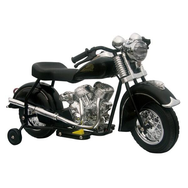 Little Vintage Indian Ride On 6V Black Motorcycle