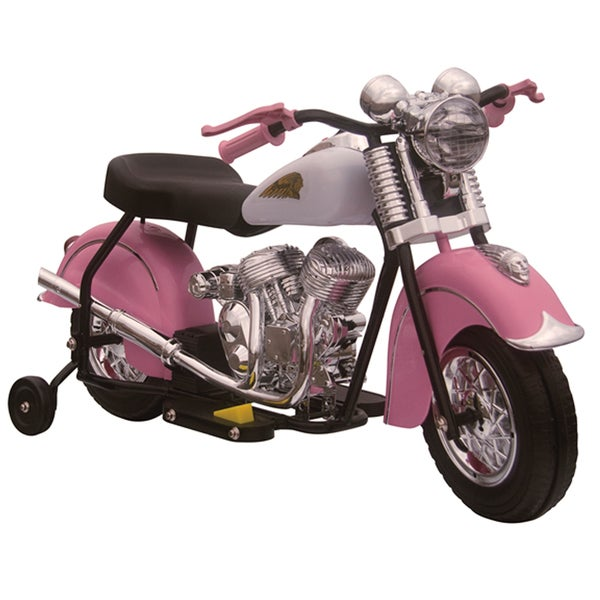Little Vintage Indian Ride On 6V Pink Motorcycle