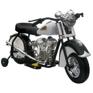 Little Vintage Indian Ride On 6V Black/White Motorcycle