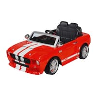 12 Volt Ride-on Red 1967 Shelby Mustang GT 500
