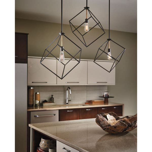 Kichler Lighting Cartone Collection 1 Light Olde Bronze Pendant
