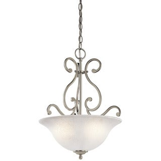 Kichler Lighting Camerena Collection 3-light Brushed Nickel Pendant