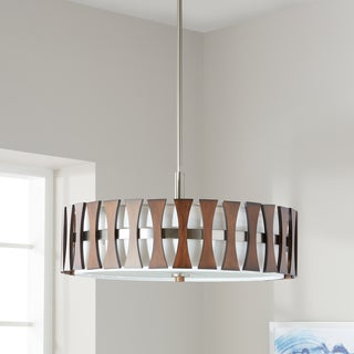Kichler Lighting Cirus Collection 4-light Auburn Stained Finish Pendant/Semi Flush Mount