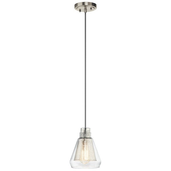 Shop kichler lighting evie collection 1 light brushed nickel mini kichler lighting evie collection 1 light brushed nickel mini pendant aloadofball Image collections
