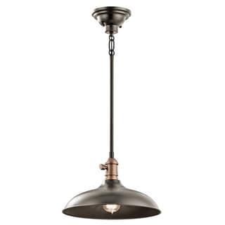 Kichler Lighting Cobson Collection 1-light Olde Bronze Pendant/Semi Flush Mount