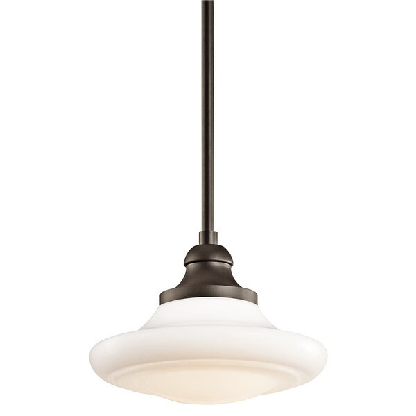 Kichler lighting keller collection 1 light olde bronze pendant semi flush mount
