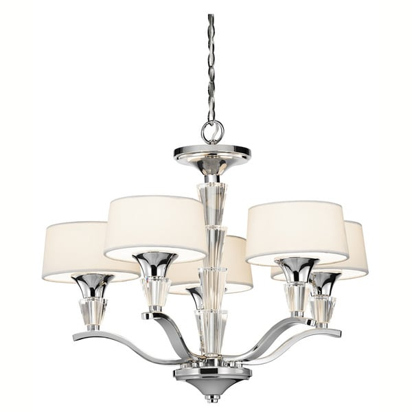 Kichler lighting crystal persuasion collection 5 light chrome mini chandelier