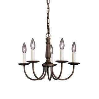 Mini chandeliers for less overstock kichler lighting salem collection 5 light tannery bronze mini chandelier aloadofball Image collections