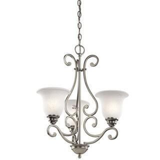 Kichler Lighting Camerena Collection 3-light Brushed Nickel Chandelier