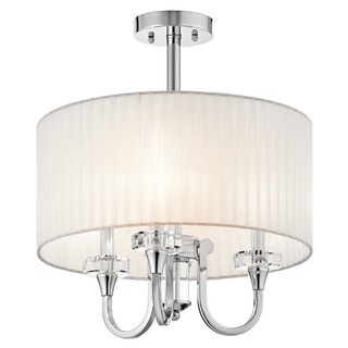 Kichler Lighting Parker Point Collection 3-light Chrome Chandelier/Semi Flush Mount
