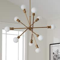 Kichler Lighting Armstrong Collection 10-light Natural Brass Chandelier