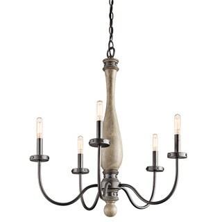 Kichler Lighting Evan Collection 5-light Distressed Antique Grey Chandelier
