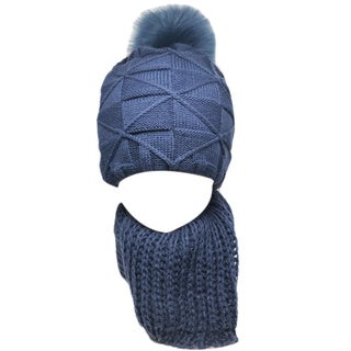 Kate Marie 'larch' Women's Beanie and Scarf Set