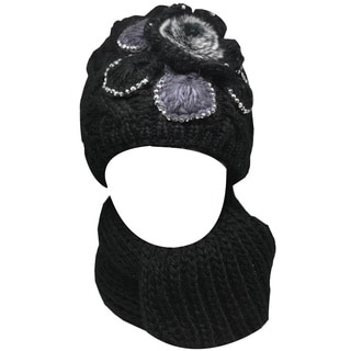 Kate Marie Women's 'Ananas' Beanie and Scarf Set