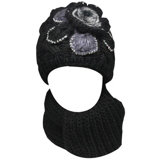 Kate Marie Women's 'Ananas' Beanie and Scarf Set (4 options available)