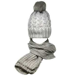 Kate Marie 'tares' Women's Beanie and Scarf Set