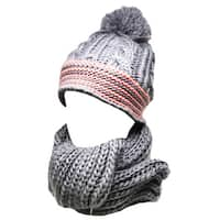 Kate Marie 'thyme' Women's Beanie and Scarf Set