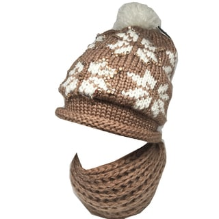 Kate Marie Reseda Women's Beanie and Scarf Set