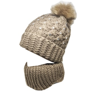 Kate Marie 'romarin' Women's Beanie and Scarf Set