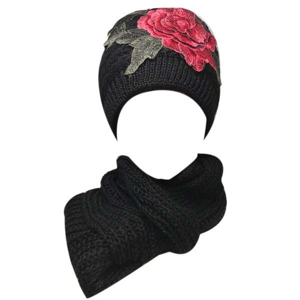 Kate Marie 'verbena' Women's Beanie and Scarf Set