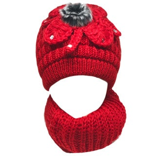 Kate Marie 'joy' Women's Beanie and Scarf Set