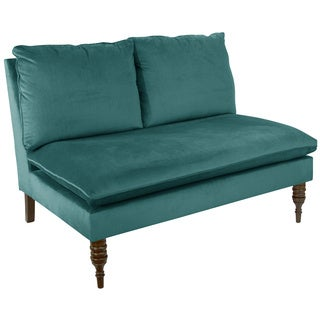 Skyline Furniture Mystere Velvet Fabric Modern Loveseat
