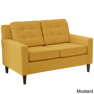 Skyline Furniture Midcentury Modern Loveseat in Woven