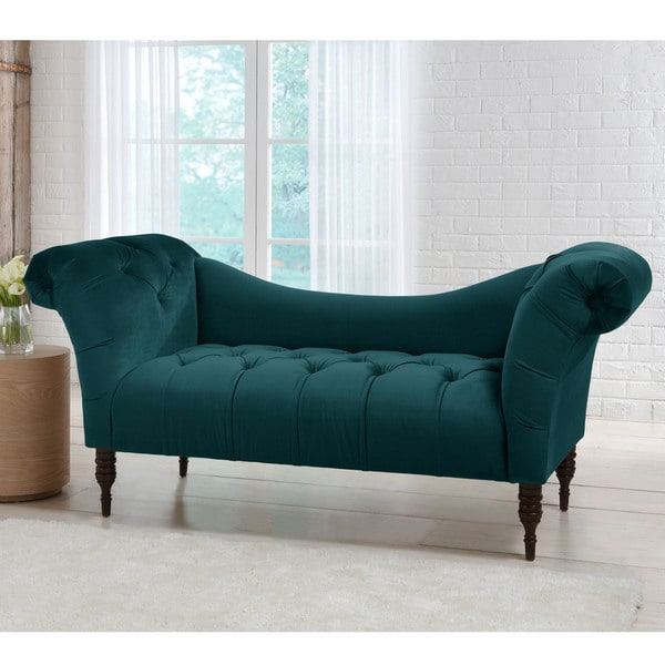 skyline furniture mystere velvet fabric chesterfield loveseat free shipping today overstock. Black Bedroom Furniture Sets. Home Design Ideas