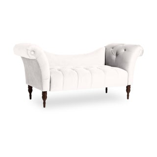Skyline Furniture Mystere Velvet Fabric Chesterfield Loveseat