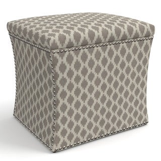 Skyline Furniture Bistro Smoke Fabric Storage Ottoman in Bistro Smoke