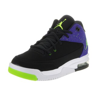 Nike Kids' Jordan Flight Origin 3 Black Nubuck Basketball Shoes