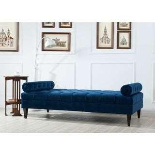 Jennifer Taylor Home Robert Velvet Button Tufted Bench