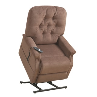 Richland Tufted Brown Fabric Power Lift Chair Recliner