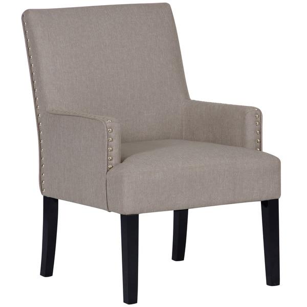 Shop Modern Grey Fabric Accent Chair With Nailhead Trim