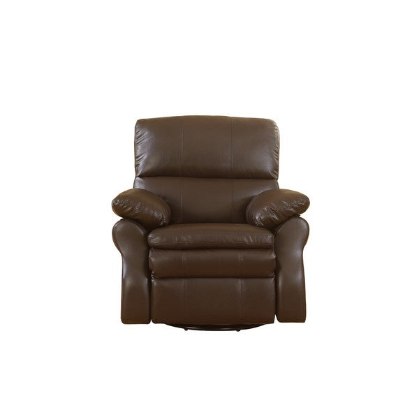 Shop Classic Brown Bonded Leather Oversize Rocker And