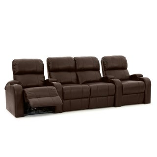 Octane Edge XL800 Power Leather Home Theater Seating Set (Row of 4)