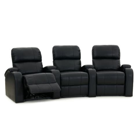 Octane Edge XL800 Manual Leather Home Theater Seating Set (Row of 3)