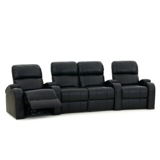 Octane Edge XL800 Manual Leather Home Theater Seating Set (Row of 4)